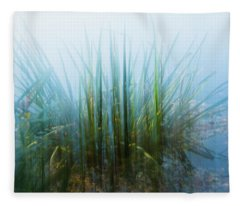 Morning At The Lake Fleece Blanket