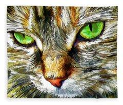Zen Cat Fleece Blanket
