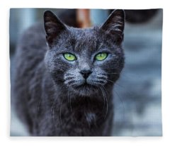 Green Eyes Fleece Blanket
