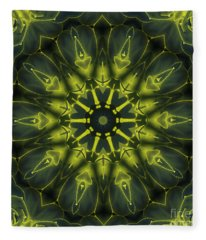 Succulent Mandala Fleece Blanket