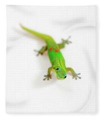 Green Gecko Fleece Blanket