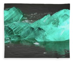 Green Iceberg Fleece Blanket