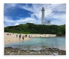 Green Island Beach Fleece Blanket