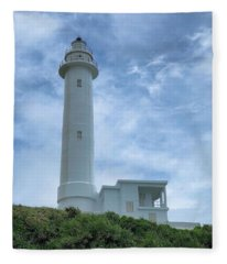 Green Island Lighthouse Fleece Blanket