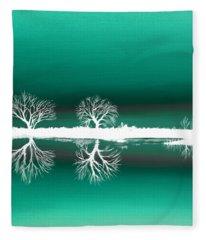 Green Landscape Fleece Blanket
