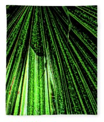 Green Leaf Forest Photo Fleece Blanket