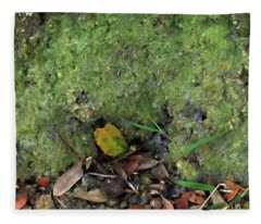 Green Man Spirit Photo Fleece Blanket