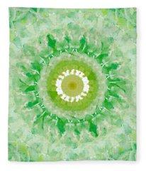 Green Mandala- Abstract Art By Linda Woods Fleece Blanket