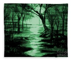 Green Mist Fleece Blanket