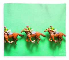 Green Paper Racecourse Fleece Blanket