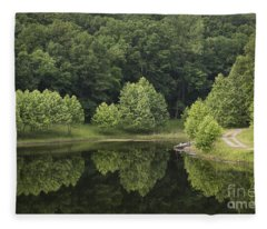 Green Reflections Fleece Blanket