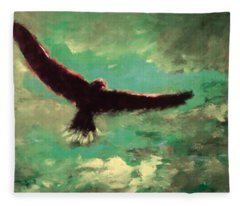 Green Sky Fleece Blanket