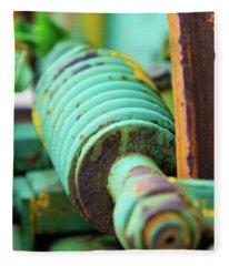 Green Spring Fleece Blanket