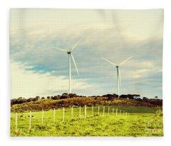 Green Tasmania Fleece Blanket