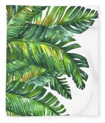 Green Tropic  Fleece Blanket
