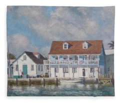 Green Turtle Cay Past And Present Fleece Blanket