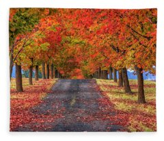 Greenbluff Autumn Fleece Blanket