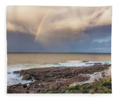 Green Cape Rainbow Fleece Blanket