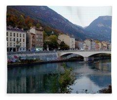 Grenoble Citadelle Bridge Fleece Blanket