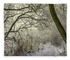 Grey Day #h1 Fleece Blanket