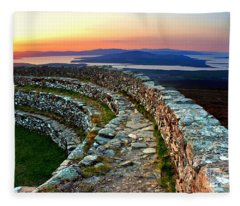Grianan Fort Sunset Fleece Blanket