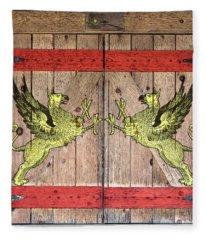 Griffin Door Fleece Blanket