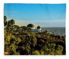 Griffith Observatory Fleece Blanket
