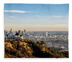 Griffith Observatory - Panorama Fleece Blanket