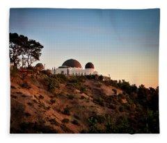 Griffith Observatory Sunset Fleece Blanket