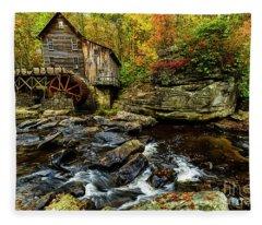 Grist Mill Fall Color Fleece Blanket