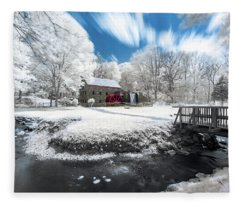 Grist Mill In Halespectrum Fleece Blanket