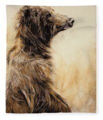 Grizzly Bear 2 Fleece Blanket