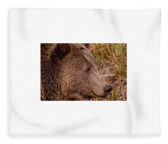 Grizzly Profile Fleece Blanket