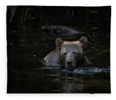Grizzly Swimmer Fleece Blanket