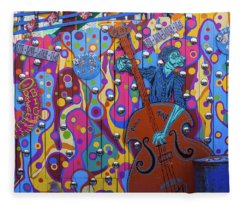 Groovy Music Fleece Blanket