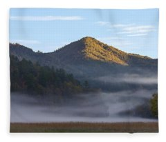 Ground Fog In Cataloochee Valley - October 12 2016 Fleece Blanket
