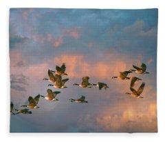 Group Flight Fleece Blanket