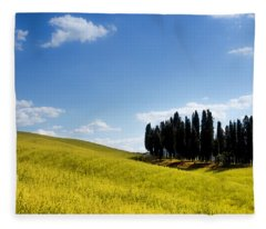 Group Of Tuscan Cypresses Fleece Blanket