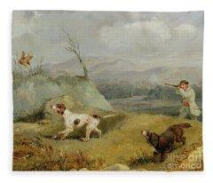 Grouse Shooting  Fleece Blanket