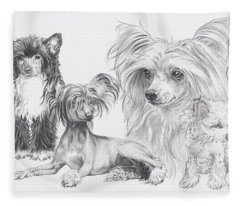 The Chinese Crested And Powderpuff Fleece Blanket