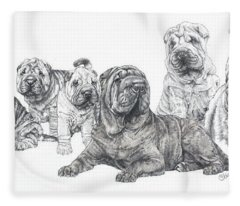 Mister Wrinkles And Family Fleece Blanket