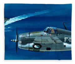 Grumman F4rf-3 Wildcat Fleece Blanket