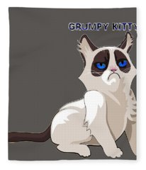 Grumpy Cat Fleece Blanket
