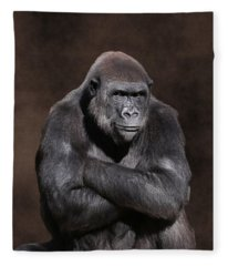 Grumpy Gorilla Fleece Blanket