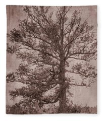 Grunge Tree Fleece Blanket