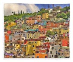 Guanajuato Hillside Fleece Blanket