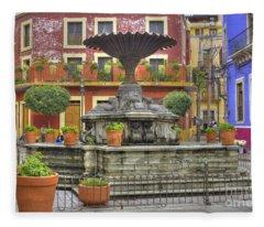 Guanajuato Mexico Fleece Blanket