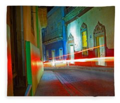 Fleece Blanket featuring the photograph Guanajuato Night by Skip Hunt