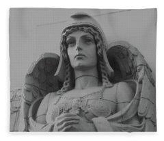 Guardian Angel On Watch Fleece Blanket