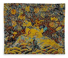 Guardian Of The Temple Fleece Blanket